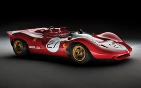 Picture Ferrari, 1967, 350, Spider, Can-Am, Classic racing cars