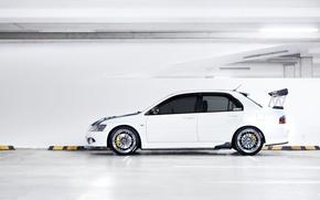 Picture Desktop, profile, Mitsubishi, Lancer, white, Evolution, Car, Beautiful, Style, Lancer, JDM, Wallpaper, Automobiles, Evolution, Mitsubishi