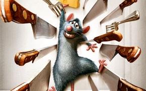 Wallpaper mouse, cartoon, Ratatouille