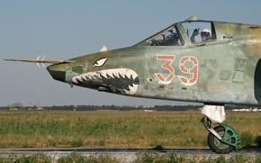 Wallpaper pilot, attack, Rook, Su-25, Su-25