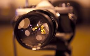 Wallpaper focus, macro, the camera, reflection, glare, Camera, lens