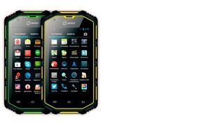 Picture smartphone, SENSEIT R390, smartphone in the shell, protection class IP68