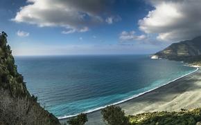 Picture beach, sea, coast, corsica