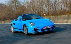 Picture road, car, sports, passenger, Porsche 911 Turbo S, turbo sports car