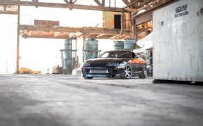 Picture black, supra, black, front view, Toyota, supra, toyoya