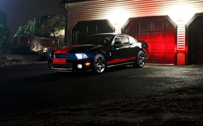 Picture night, Mustang, Ford, muscle car, ford mustang gt500