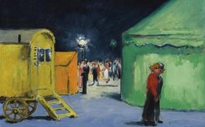 Picture lights, picture, circus, tent, genre, Kees van Dongen, Circus, amusement park La Villette