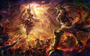 Picture weapons, rongrong wang, art, army, the sun's rays, battle, rong rong, being
