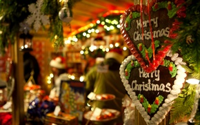 Picture holiday, balls, cookies, frost, grandfather, maiden, tree, christmas, garland, Christmas, merry, gingerbread