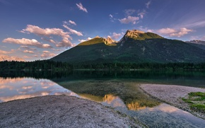 Picture forest, nature, lake, reflection, mountain