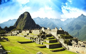 Wallpaper the ruins, America, architecture, journey, civilization, Peru, The city Machu-Picchu, lost city of the Incas, ...
