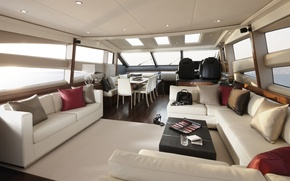 Picture luxury, yacht, salon, motor