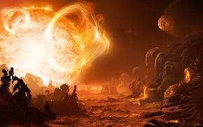 Picture the sun, star, heat, 154
