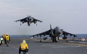 Picture fighters, deck, stormtroopers, AV-8B, Harriers