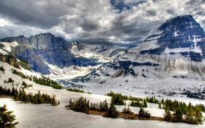 Picture photo, Nature, Winter, Mountains, Snow, Canada, Park, Banff