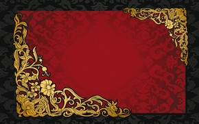 Picture pattern, retro, red, vintage, vector, golden, background, texture, dark, ornament, pattern, gradient, vintage