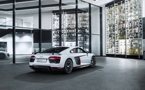 Picture Audi, Audi, white, supercar
