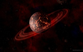 Picture space, planet, Saturn