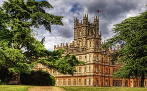 Picture the city, photo, castle, England, HDR, Hampshire, Highclere