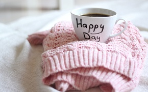 Picture Cup, happy, sweater