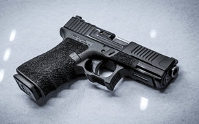 Picture gun, weapons, background, Glock 19, Mark 1