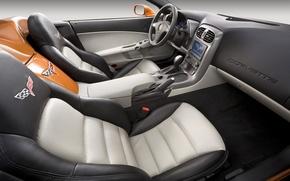 Picture the wheel, corvette, salon, chevrolet, seat