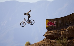 Picture the sky, bike, people, mountain, flight