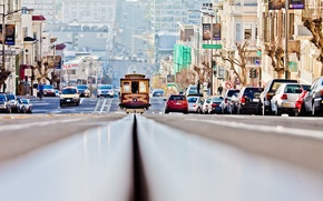 Picture street, San Francisco, trams