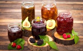 Picture berries, raspberry, strawberry, peach, BlackBerry, jam, peach, strawberry, jam, blackberry, raspberry, jam, figs