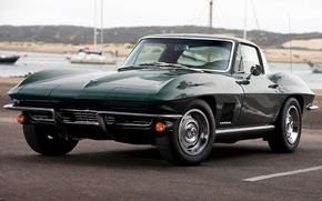 Picture Corvette, Chevrolet, green