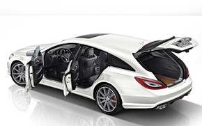 Picture Mercedes, White, CLS63 AMG, S-Model