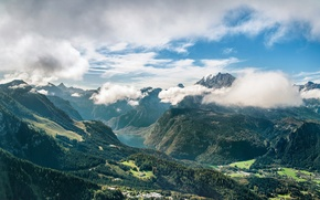 Picture mountains, lake, valley, germany, Bavaria, Germany, mountain range, Berchtesgaden