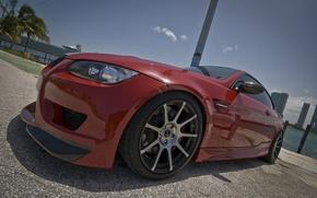 Picture the sky, red, bmw, BMW, red, wheels, Miami, e92, miami