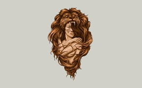 Picture girl, background, hair, Leo