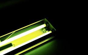 Picture green, the demi-Monde, fluorescent lamp