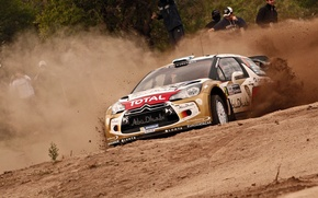 Picture Auto, Sport, Machine, Citroen, The hood, Citroen, Lights, DS3, WRC, Argentina, Rally, Rally, The front