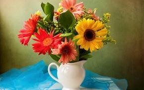 Picture bouquet, gerbera, Gerberas