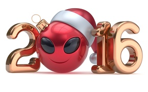 Picture New Year, figures, smiley, New Year, ball, Happy, 2016