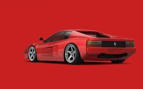 Picture red, supercar, ferrari, testarossa, 512 tr
