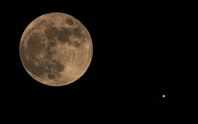 Picture space, Jupiter, Full Moon