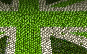 Picture pattern, flag, UK, tennis ball