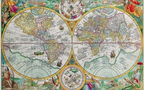 Picture the world, figure, Map, continents