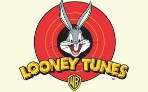 Picture Rabbit, White, Logo, Cartoon, Looney Tunes, Bugs Bunny