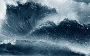 Picture sea, wave, foam
