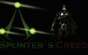 Picture green, logo, Assassin's Creed, Splinter Cell, mix