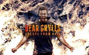 Picture fire, man, escape, discovery, discovery, bear grylls, vedmed, bear, the grilsom, to survive at any ...