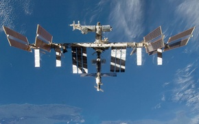 Wallpaper space, ISS, sky
