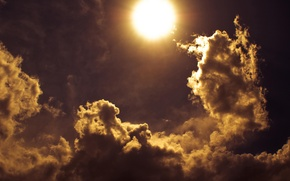 Picture The sun, The sky, Clouds, Rays