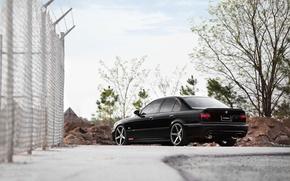 Picture bmw, e39, vossen wheels