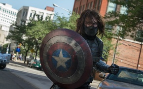 Picture mask, shield, The first avenger: the Other war, Captain America: The Winter Soldier, Sebastian Stan, …